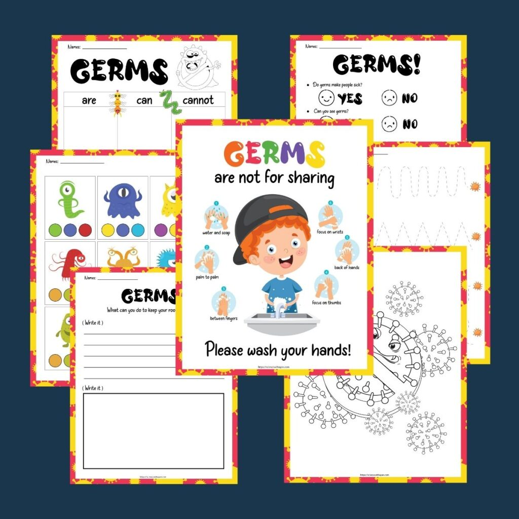 free printable germ activity for kids