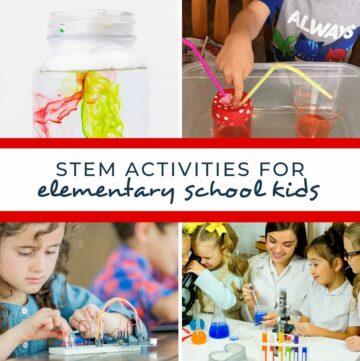stem activities for elementary kids