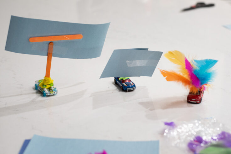 wind powered cars made from matchbox cars